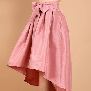 Dresses & Skirts - Never worn High waisted pink high-low skirt